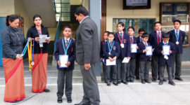 Prize Distribution Ceremony - Winners of Gold–Silver–Bronze for Abacus Calculation Competition On 03 Feb, 2017