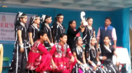 18 Feb, 2017 - Students of Gurukul International School, Haldwani winning trophy for Inter School Dance Competition