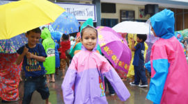 Gurukul International School Haldwani organized Rainy Day joy for Nursery, LKG and UKG students. The children brought the raincoat, umbrellas and danced under artificial showers sprinkled on them, They enjoyed splashing of the water, They have great fun.