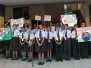 Today on date 14 September, 2018 students conduct special assembly on  Hindi Diwas
