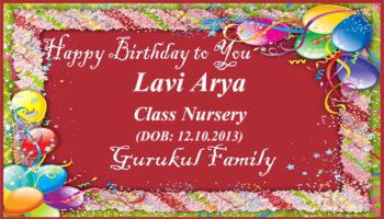Happy Birthday - Lavi Arya - Class Nursery
