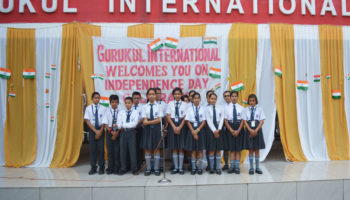 Gurukul International School Haldwani Celebrated 71 Independence day with great pump and show. The children demonstrated cultural programs dedicated to freedom fighters as a tribute. On this occasion newly formed parliament took oath during oath taking ceremony.