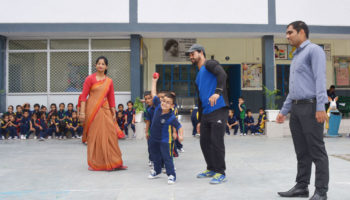 Ball Throw Competition (Nursery to UKG) on July 2017
