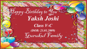 Happy Birthday - Yaksh Joshi - Class V (C)